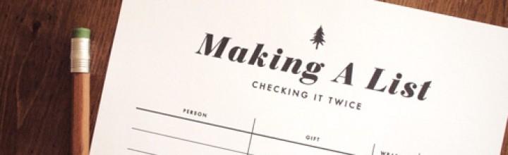 THE LIST- Christmas Gift Record Printable